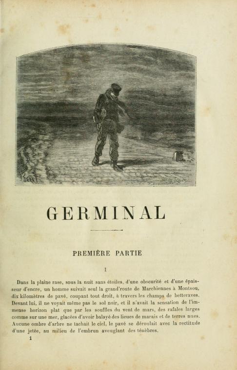 Germinal by Émile Zola.  Hommage à Émile Zola