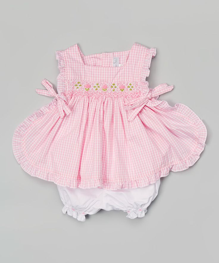 Another great find on #zulily! Pink Gingham Smocked Top & Bloomers - Infant by Fantaisie Kids #zulilyfinds