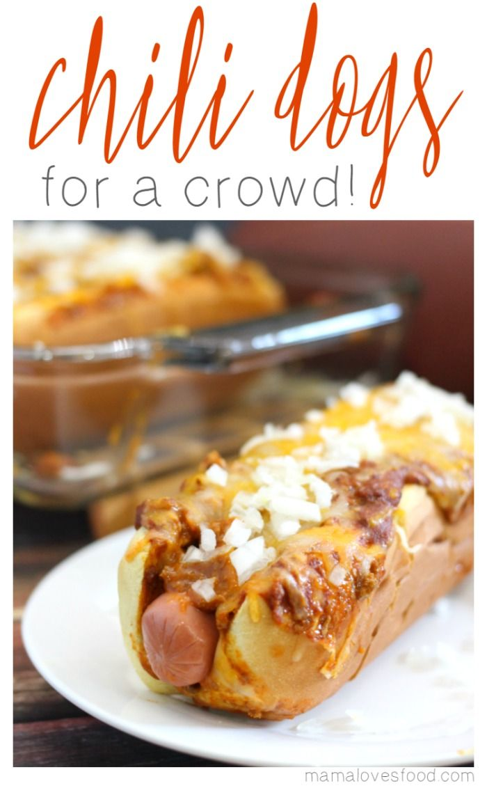 Making Chili Dogs for a Crowd or Chili Dog Casserole is the perfect way to feed a group and still be able to enjoy the party! #ClubTysonFFL AD
