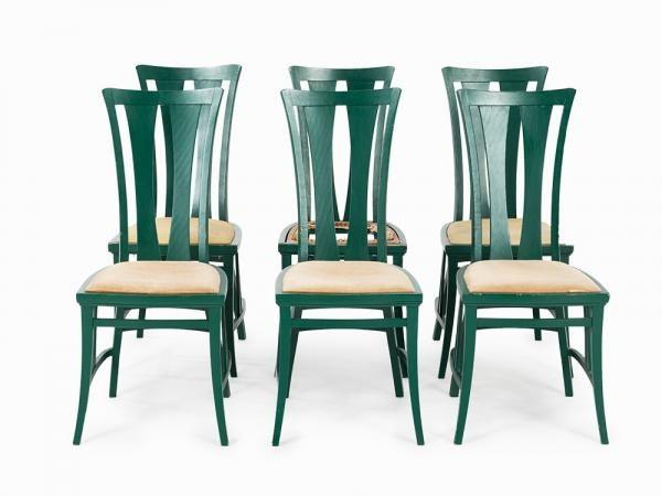 """6 Chairs after Peter Behrens, Germany, 1st H. 20th C., mis en vente lors de la vente """"De Gallé à WMF : Arts Décoratifs du XXe Siècle"""" à Auctionata AG   Auction.fr"""