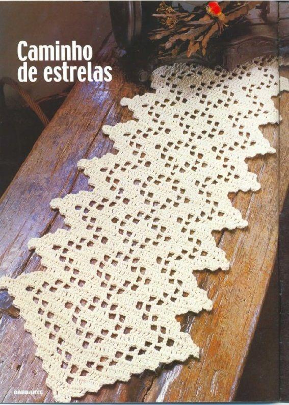 CROCHE: CAMINHO DE MESA DE CROCHE