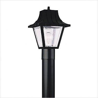 Bundle-61 Outdoor Post Lantern in Black (2 Pieces) by Sea Gull Lighting. $66.00. [***INCLUDED IN THIS SET: (1)Pedestal Mount in Black Finish., (1)Outdoor One Light Post Lantern in Black] Features: -Impact resistand, virtually indestructible.-Clear beveled acrylic.-24 3/4'' black cast aluminum base.-48 1/4'' black aluminum post.-15 1/2'' black aluminum ladder rest.-84'' black steel post.-4'' black powdercoat pedestal mount.-photo electric control adaptor. Includes: -...