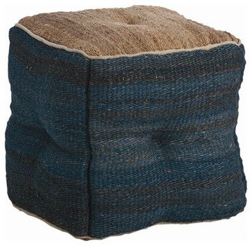 Hand Loomed Jute Ottoman rustic ottomans and cubes