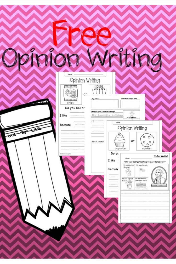 Free Early Elementary Opinion Writing Printables To Download Immediately Student Write An Opinion Writing Kindergarten Writing Printables Kindergarten Writing [ 1102 x 735 Pixel ]
