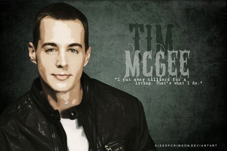 """I put away killers for a living. That's what I do."" - Tim McGee // NCIS"