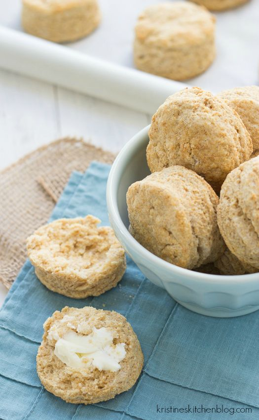 Easiest 100% Whole-Wheat Biscuits, made with white whole-wheat flour are unbelievably light and tender.