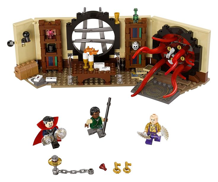 """""""On no! The Portal Beast has entered Doctor Strange's Sanctum Sanctorum and it's time to banish it once and for all! This Lego Set is one among many sets that were based on the popular movie Doctor Strange  which came out last year. What's neat about this one is that it let's you stage a cool battle between Dr Strange and the Portal Beast (which comes with built-in movable tentacles, eyes and teeth!). """""""