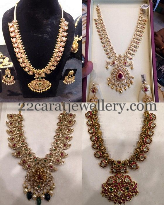 Jewellery Designs: Different Styles Ethnic Mango Sets