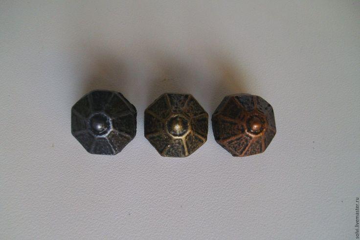 """Купить Заклепка """"Нордический храм"""" - серебряный, средневековый стиль, материалы для кожи, металлофурнитура, Ремни, браслеты"""