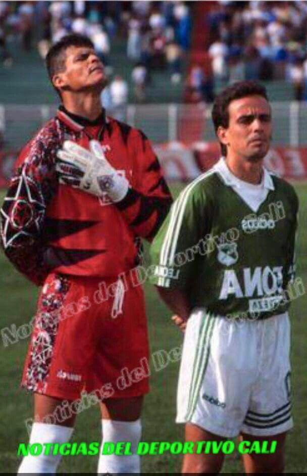 Amor por la camiseta, amor por los colores.  Miguel Calero (Q.E.P.D) y Oscar Pareja, campeones en 1996.  #RecordandoNuestraHistoriaNDC