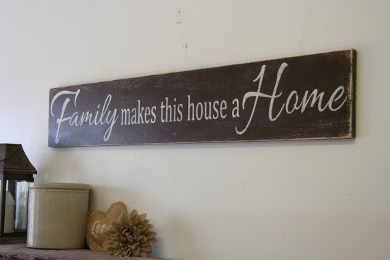 This is a long wood sign that comes in two different sizes - 48 x 8 or 60 x 12. The background is painted Melted Chocolate and wording is Ivory.  I will handpaint, sand for a distressed/rustic chic/vintage look and seal the piece.  The back is left unfinished and comes ready to hang with sawtooth hanger.  Thanks so much for looking & I hope to make this special piece for your home