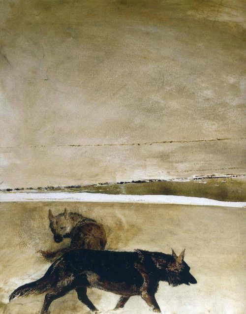 "tdylan:   ""Wolves"", Andrew Wyeth."
