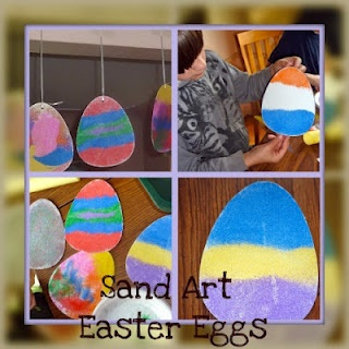 Easter Egg Sand Art Project. Easy enough for toddlers!