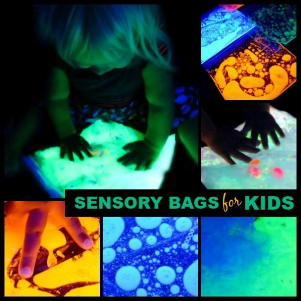 GLOW-IN-THE-DARK SENSORY BAGS FOR KIDS- these are too cool!