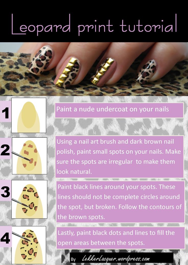 leopard print tutorial - So easy and looks awesome!