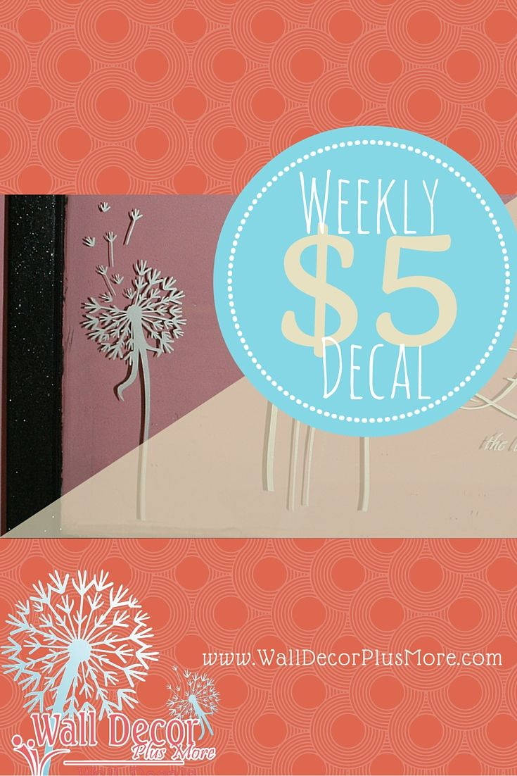 52 best beautiful wall stickers images on pinterest wall single dandelion wall decor vinyl decal stickers with floating petals 7x24