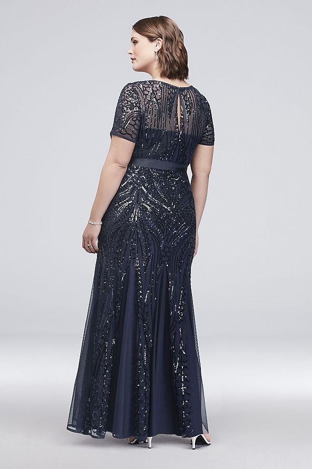 Black Beaded Sheer Illusion Short Cocktail Dress | Short