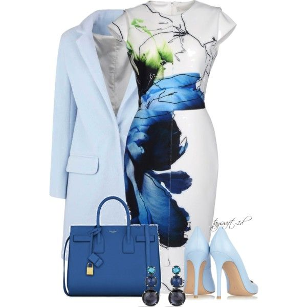 Cobalt and Sky Blue, created by tayswift-1d on Polyvore