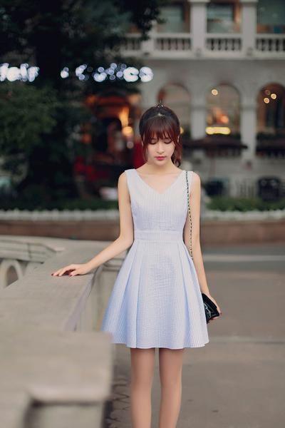 Japanese fashion V-neck halter waist A word  dress - AddOneClothing - 6