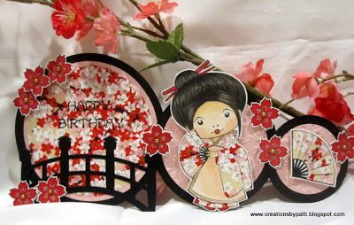 Creations by Patti: Kimono Marci with Fan Birthday Card