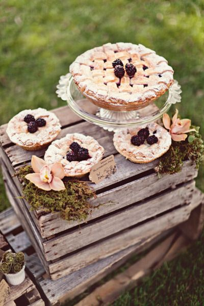 a scrumptious spread of pies baked with love