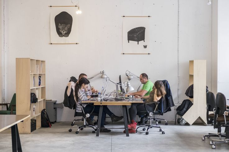 High ceilings and a ton of natural light make up Betahaus' winning recipe for a productive work environment.