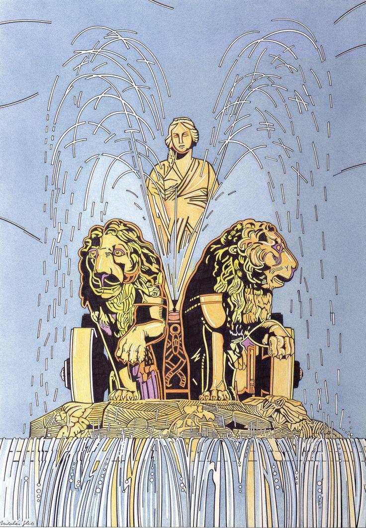 Sobra la descripción de esta magnífica fuente de la diosa y sus leones, icono de Madrid, conocido mundialmente. ¡Ah, su escultor era abulense!