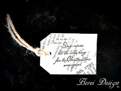 Borei Design - Upcycled Recycled DIY Craft Project Tutorials: Easy Recycled Vintage Book Page Gift Tags Tutorial...