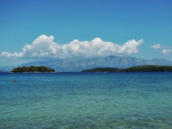 From the beach of Nidri
