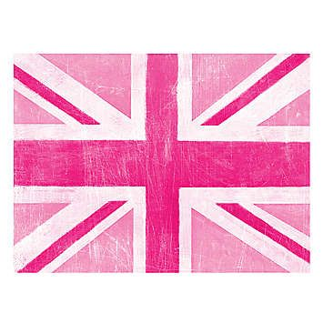 Pink Union Jack Canvas