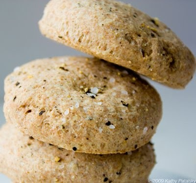 Sea salt and cracked pepper biscuits with spelt flour