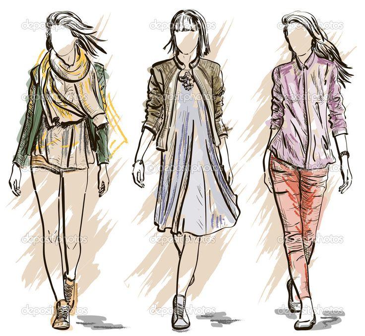 Resultado de imagen de dibujos de moda