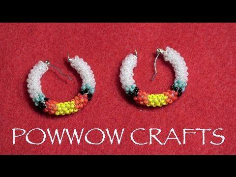 ▶ Peyote Stitch - Beaded Hoop Earrings, POWWOW CRAFTS SERIES - YouTube