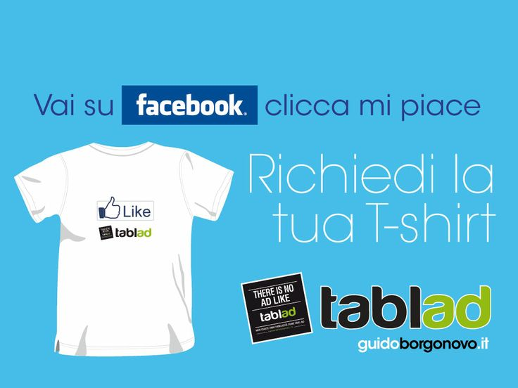 search TABLAD on Facebook, 1 free t- shirt for a LIKE www.guidoborgonovo.it