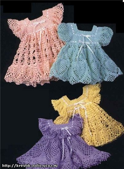 Crochet Baby Doll Dresses Free Pattern
