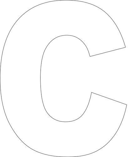 73 best litere pentru decupare images on pinterest letters letter free printable c template spiritdancerdesigns Image collections