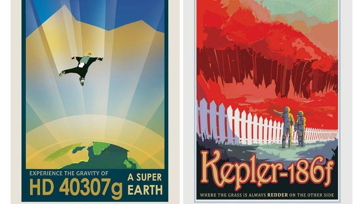 NASA's Vintage-Inspired Space Tourism Posters