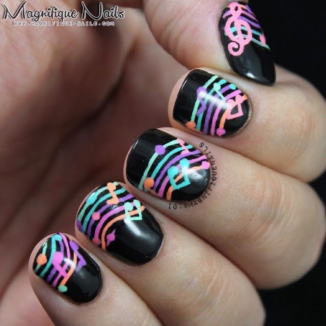 Best 25 music nail art ideas on pinterest piano nails music well its time for my next alphabet nail art challenge n for noteswell music notes in fact prinsesfo Image collections