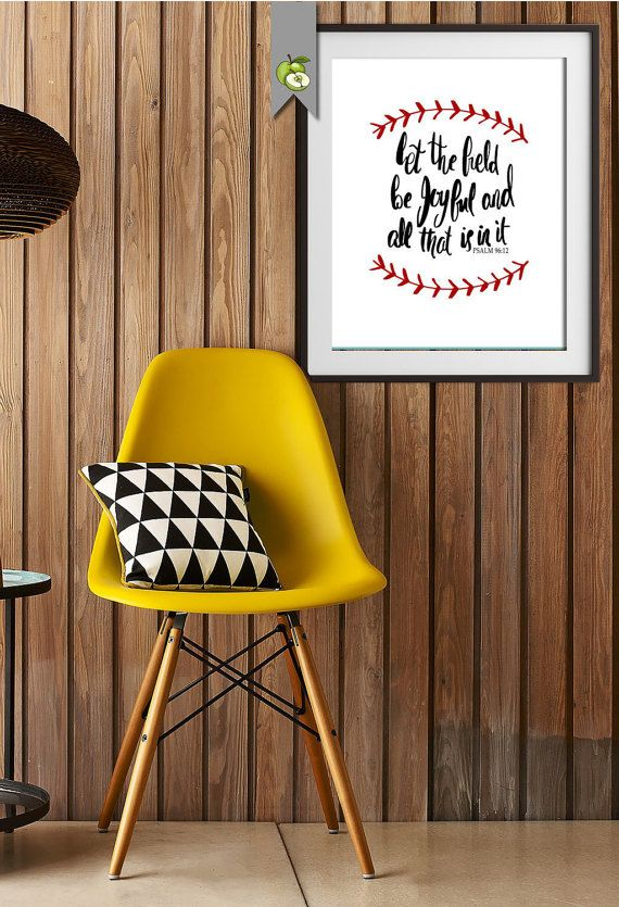 Baseball Softball Coach Let the field be joyful by TheArtyApples