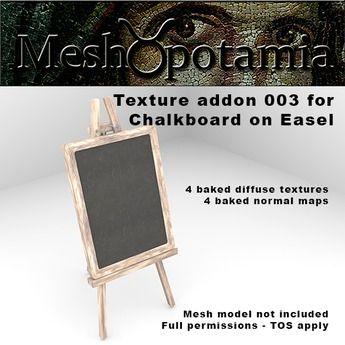 Meshopotamia Chalkboard on Easel Texture addon 003