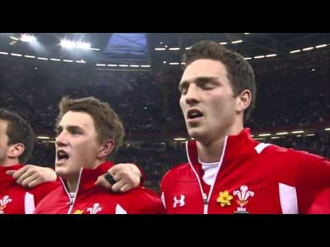 ▶ Welsh National Anthem just before Wales beat England 30 - 3.Saturday 16th march 2013 - YouTube