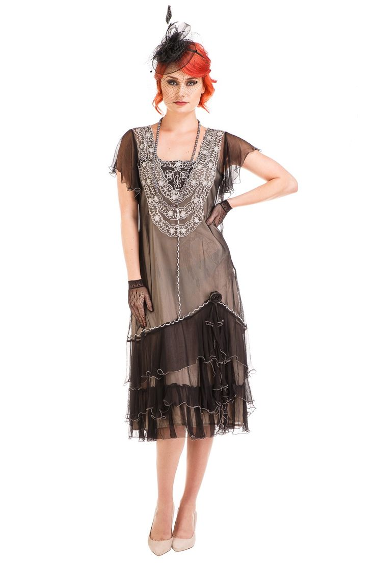 Black flapper inspired dresses