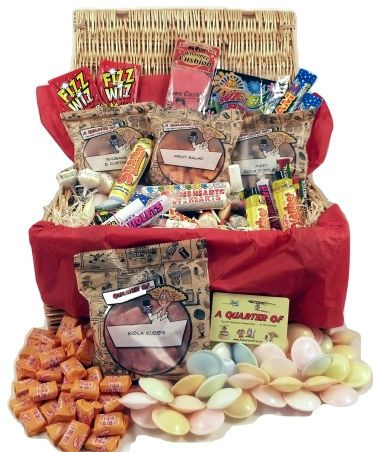 Retro Sweet Hamper Retro Sweet Hamper - This is the smallest of our hamper range, but its very very cool (and still pretty hefty!). Its a stunning wicker hamper bursting with our most popular and tasty traditional sweet http://www.MightGet.com/january-2017-12/retro-sweet-hamper.asp