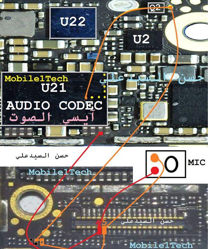 Iphone Audio Jack Diagram Iphone 5s Mic Solution Jumper Problem Ways Microphone
