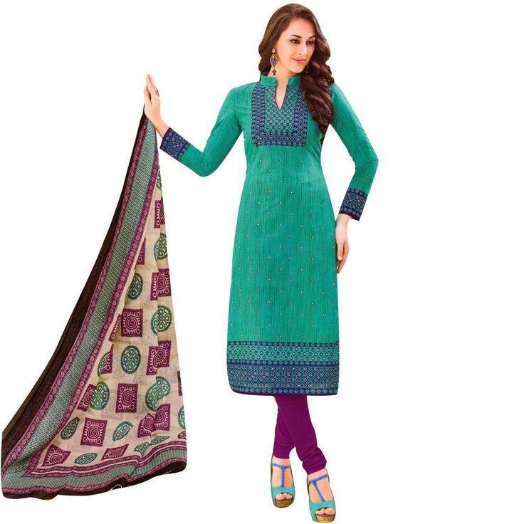 Readymade Designer Ethnic Printed Cotton Salwar Kameez Suit Indian  #Designer #ShopNow #LowestPrice #SalwarKameez #DressMaterial #FreeShipping #NewStuff #SalwarSuit