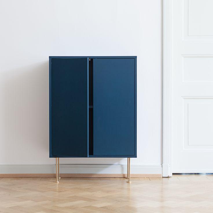 Vogue cabinet 64, navy blue / Brass – Decotique #interior #design
