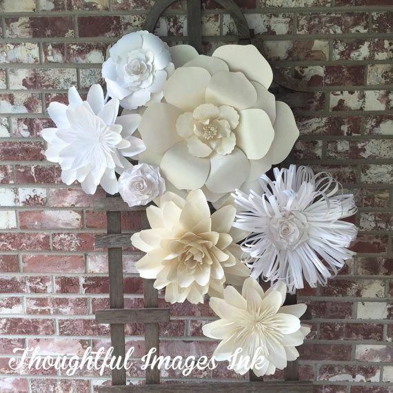 17 best ideas about flower wall decor on pinterest paper. Black Bedroom Furniture Sets. Home Design Ideas