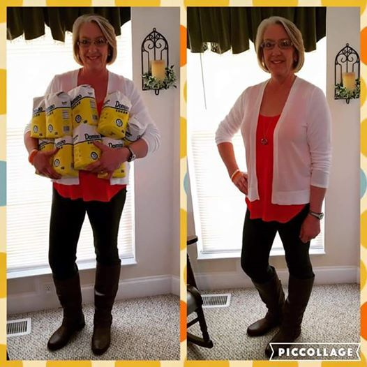 Robin shares: Haha Yes, that's sugar!!! Actually 36 pounds of sugar, representing the 35 pounds of weight I've lost with Tru in only 3 moths!! I feel fantastic!! 2 Capsules twice a day!