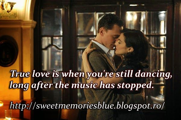 sweet memories: True love is when you're still dancing, long after...