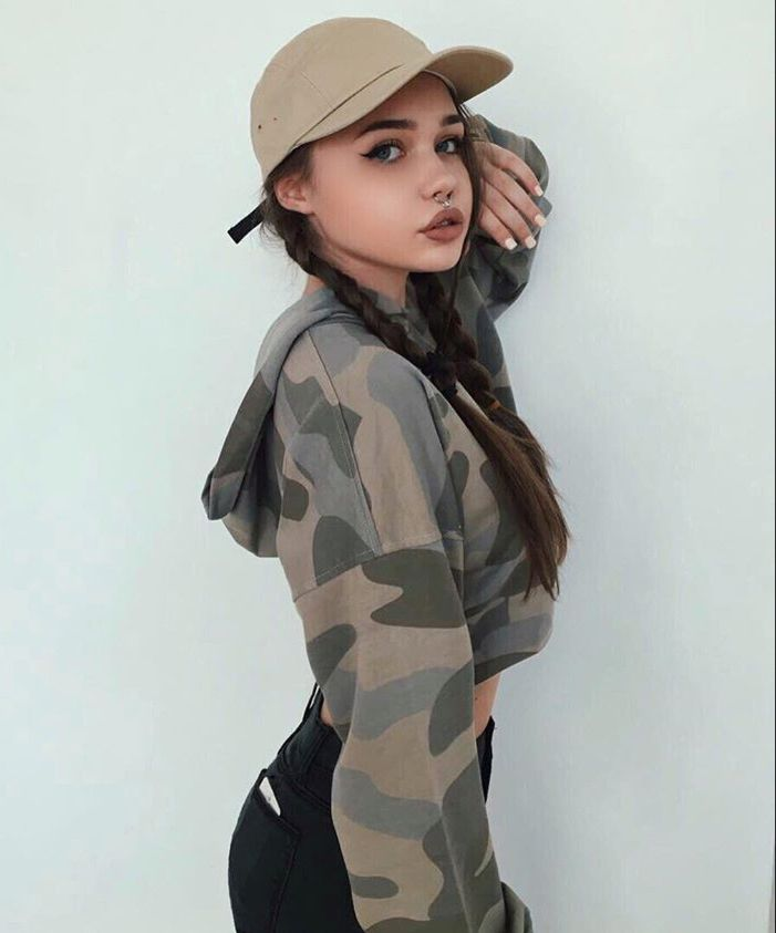 Camo hoodie and hat